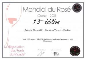 Medaglia Mondial du Rosé